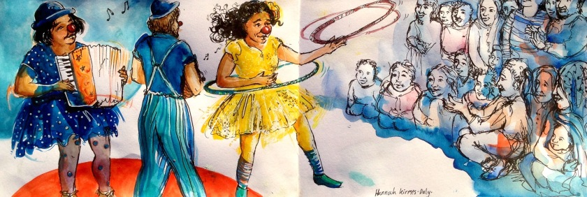 Illustration created for Clowns Without Borders in Lesvos